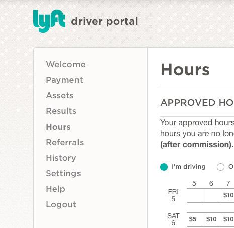 lyft-driver-menu