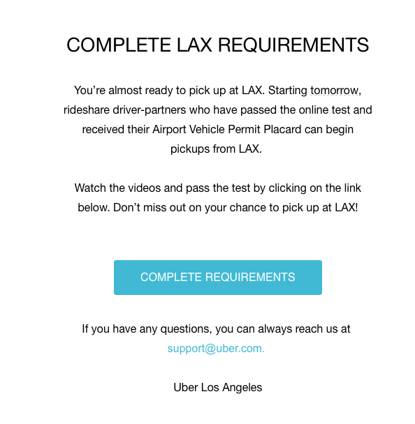 Driving For Uber At The Airport The Quiz Lax Drivers Must Pass