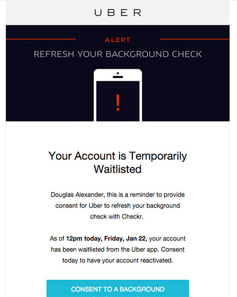 Uber Background Check Refresh Uber Runs A Yearly Background Check