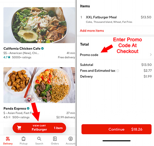 doordash coupon returning customer