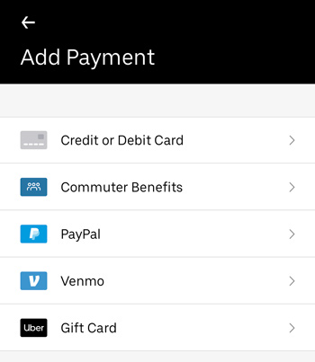 Every Uber Payment Option, & How to Select Different Credit