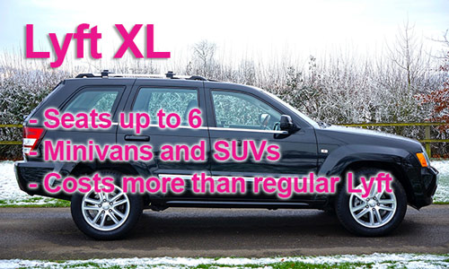 An image showing the features of Lyft XL