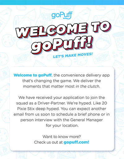 Want to Deliver for goPuff? Here are the Driver Requirements and a Job Overview