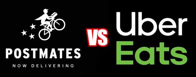 Here's The Big Differences Between Postmates vs  UberEATS