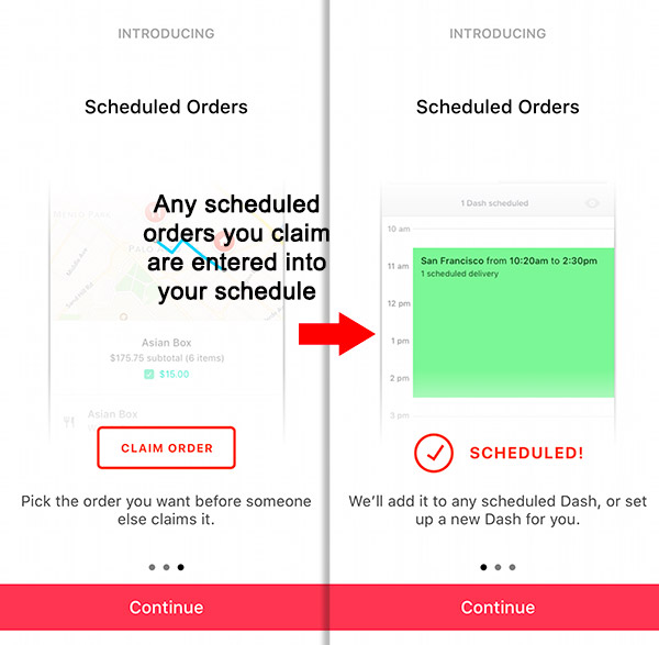 doordash scheduled hours